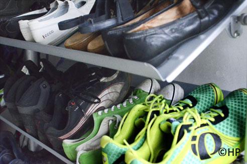 schoenen op het rek